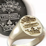Hamilton Crest Ring - Traditionally Seal Engraved