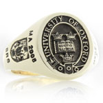 Oxford University Ring - Elevated Engraved Style with Shoulder Work