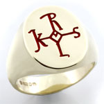 Enamelled Ring With Cross of Charlamaine - Artwork from an Ancient Artifact