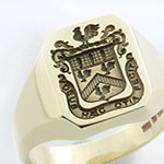 Deep for Show Engraved Example Coat of Arms Ring