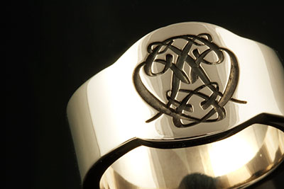 Cigar Band Ring With a Bespoke Cypher Monogram