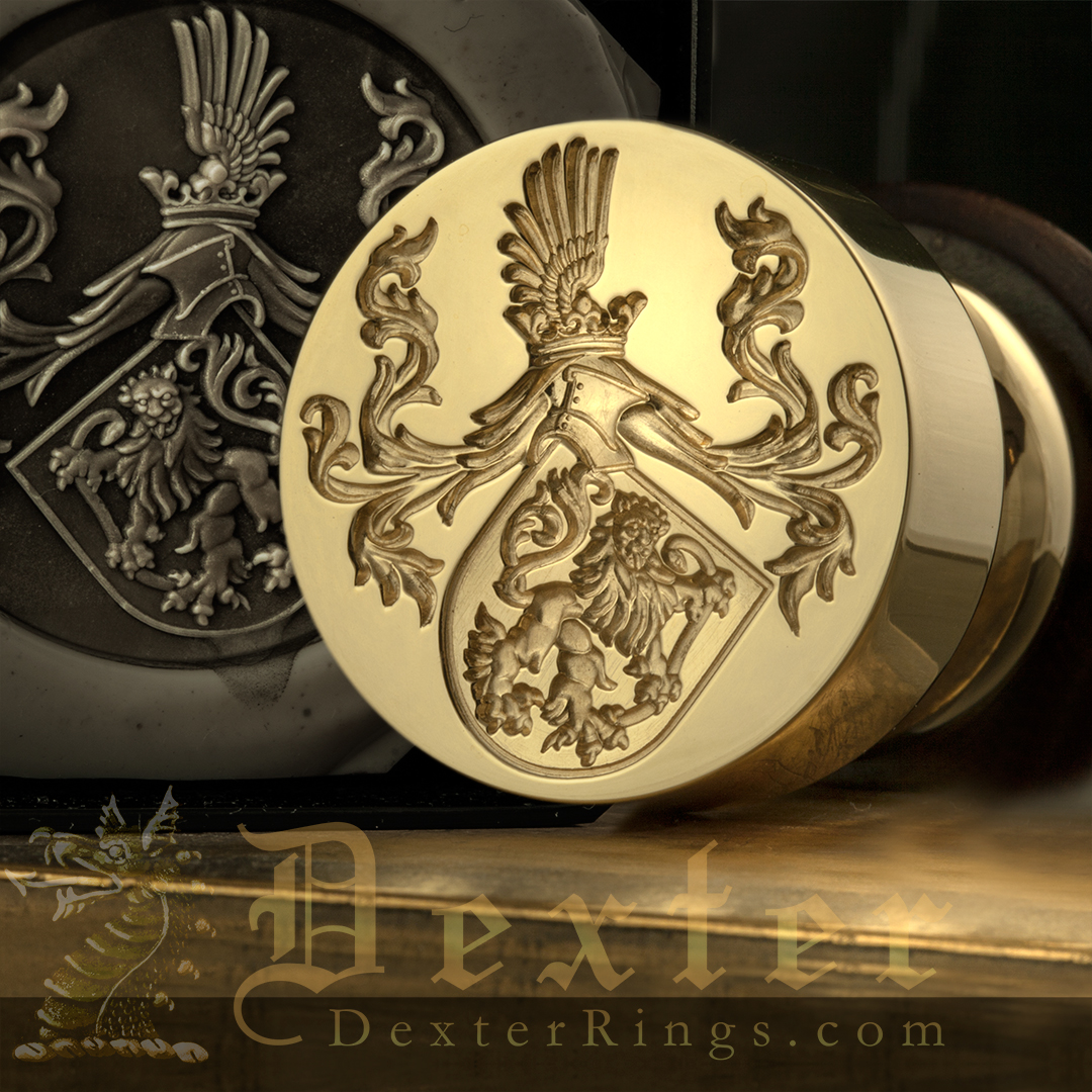 Desk Seal With Family Arms For Sealing Wedding Invites