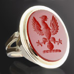 Eagle displayed cornelian