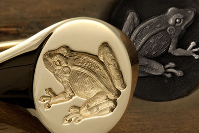 Frog or Toad Custom Engraved Signet Ring