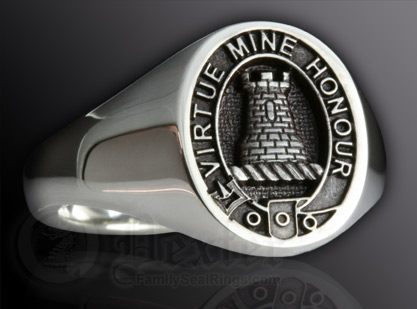 Clan MacLean Ring Elevated Engraving Style