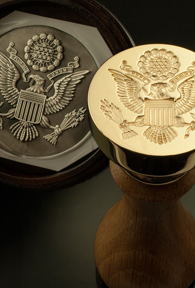Great Seal of USA With Oak Handle