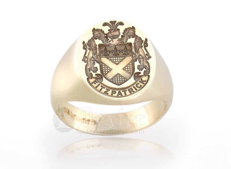 Habsburg Style Arms Signet Ring - Fitzpatrick
