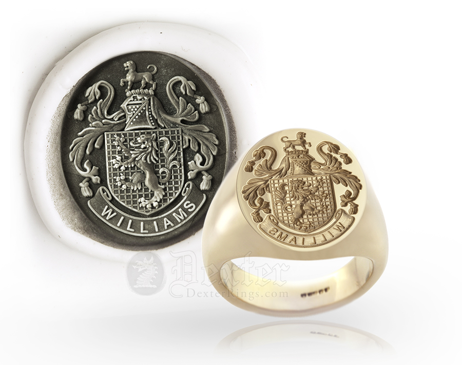 Plantagenet Style Arms Signet Signet Ring For Williams