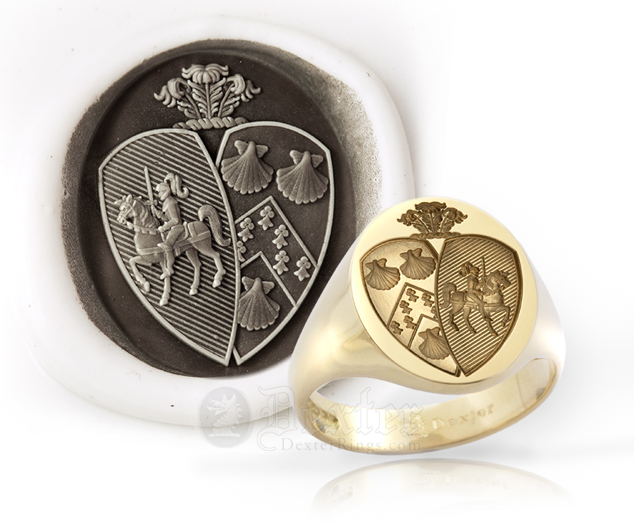 Union Style Arms Signet Ring - Williams