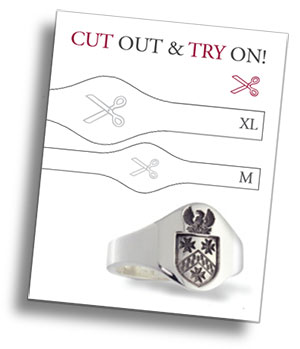 Print Cut Out & Try On Our Cigar Band Guide