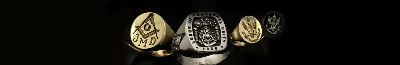 Variety of Masonic Signet Rings