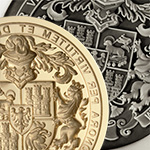 Decorative Coat of Arms Seal Engraved onto a Desk Seal