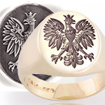 Signet Ring Engraved with a Polish Eagle