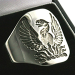 Deep for Show Engraved Example Phoenix Crest Ring