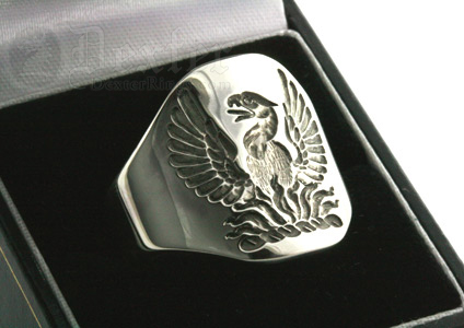 Phoenix Crest Cigar Band Ring