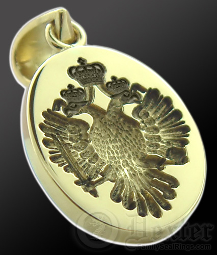 Imperial Double Headed Eagle Crest on a Pendant