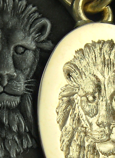 Lion Face Engraved Pendant From Clients Artwork