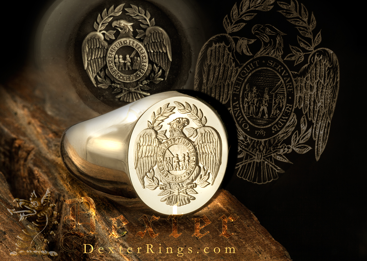 Signet Ring Seal Engraved with the Society of the Cincinnati Medal