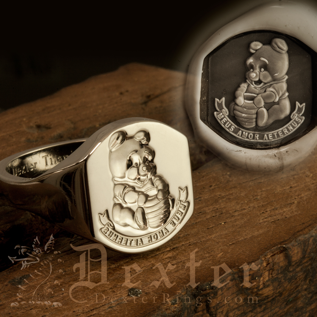 Winnie the Pooh Bear Signet Ring