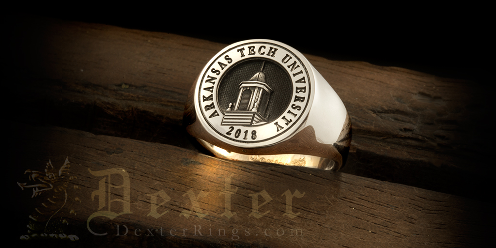 Arkansas Tech University School Signet Ring Example