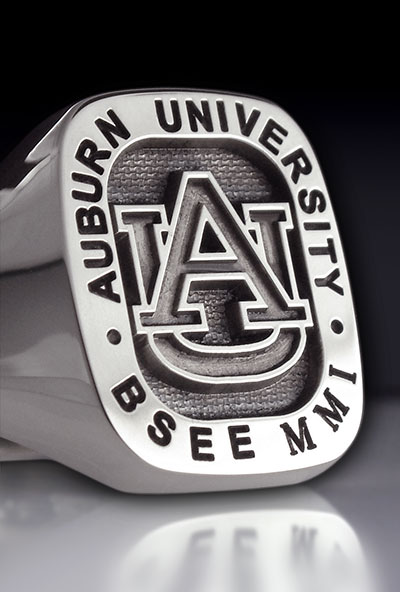 Auburn University Cushion Shape Signet Ring
