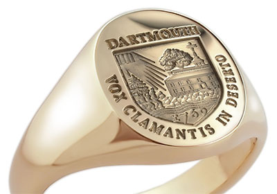 Dartmouth College Gold Signet Ring Motto Vox Clamantis In Deserto