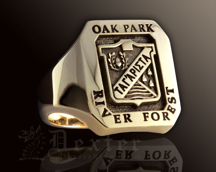 Ok Park River Forest School University Signet Ring