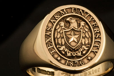 Texas University Elevated Style Signet Ring
