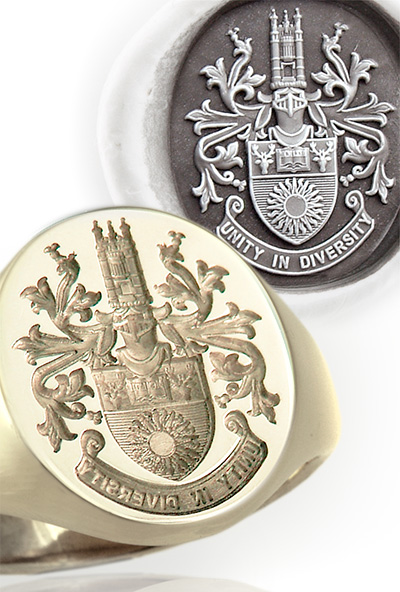 University Full Coat of Arms Seal Ring - Richmond University