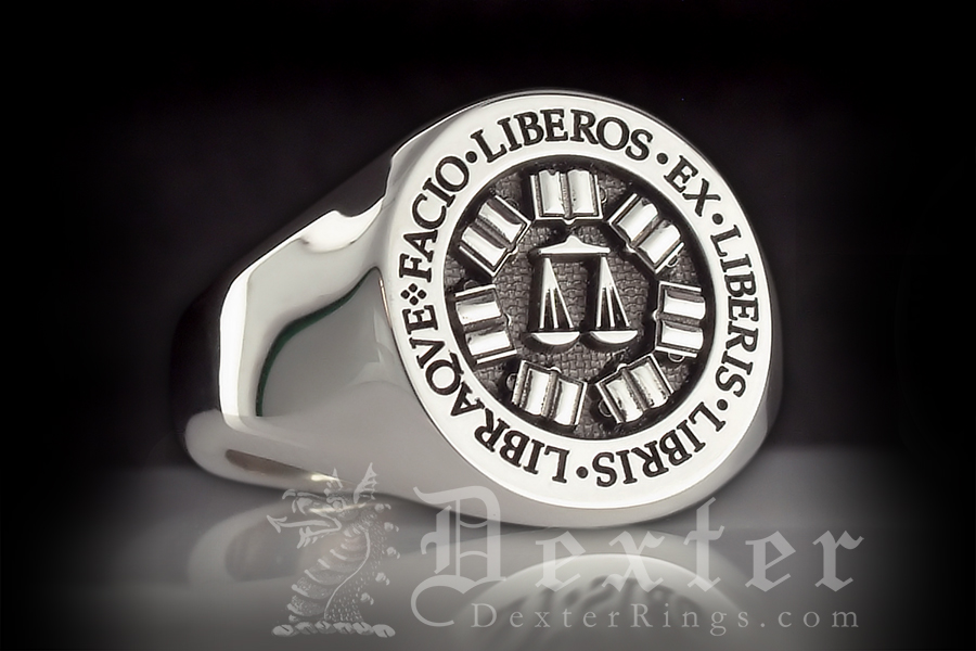 St. Johns College Silver Signet Ring
