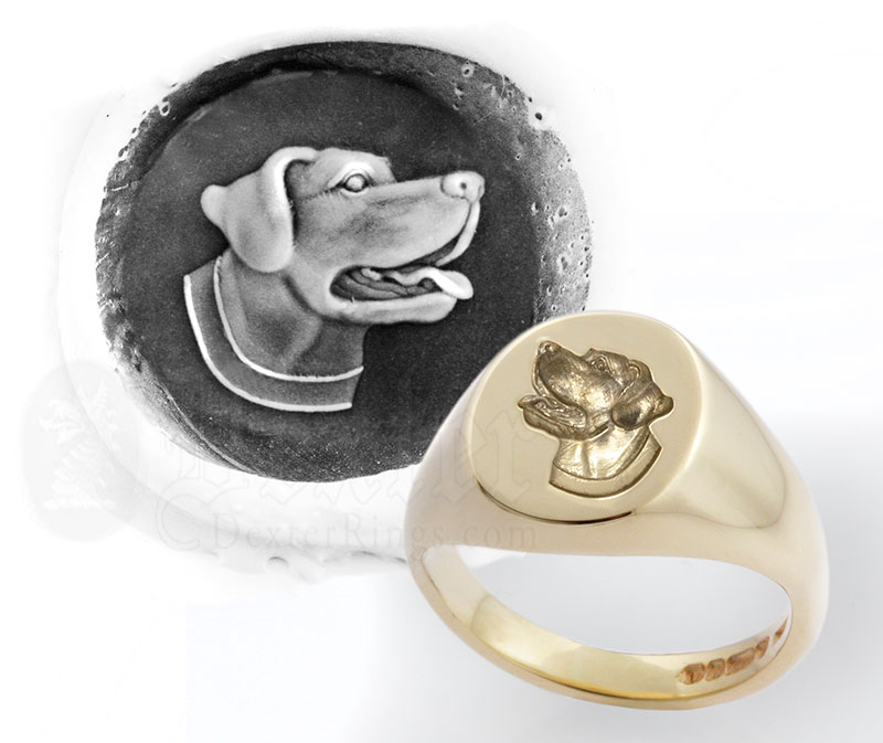 Labrador Retriever Dog Signet Ring