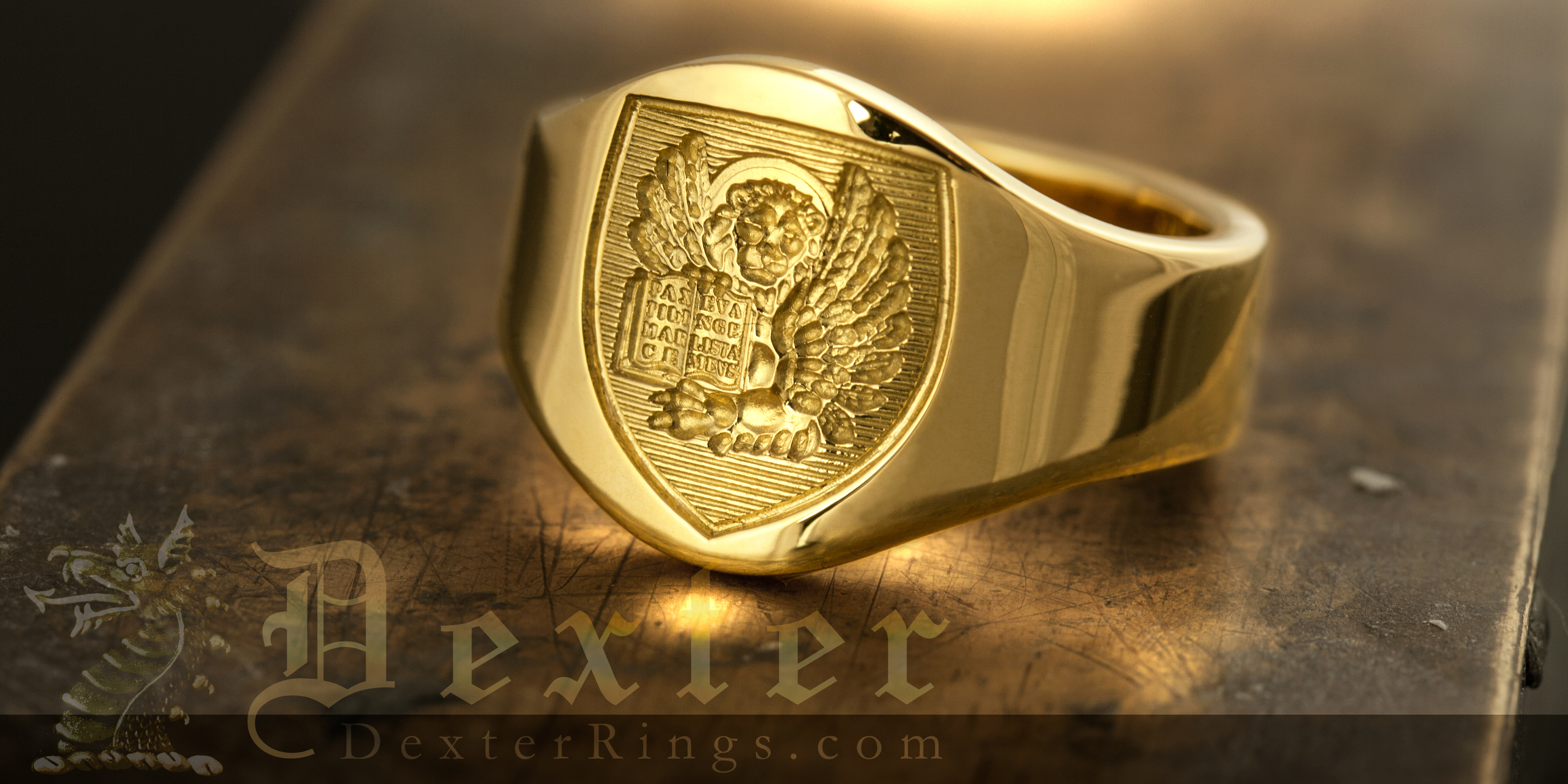 Wedding in Venice - Small Cigar Band Engraved Lion of St. Mark