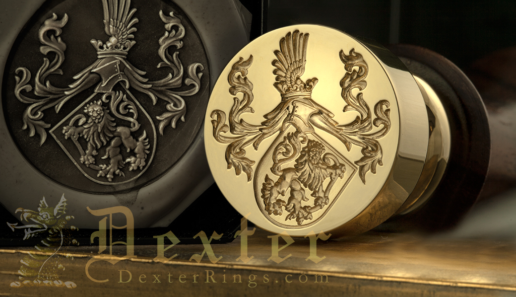 Desk Seal For Sealing Wedding Invites - With Family Coat of Arms