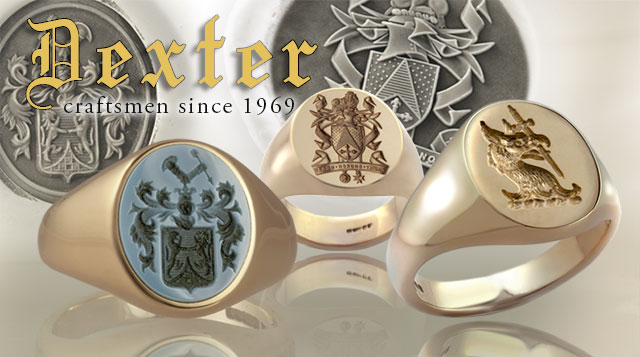signet rings by Dexter
