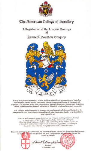 American College of Heraldry Artwork