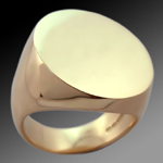 Un-engraved 'Mammoth Oval' Supersize Signet Ring