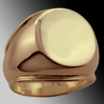 Un-engraved 'Shouldered Oval' Supersize Signet Ring